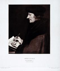 M-513 Portret van Desiderius Erasmus, humanist.