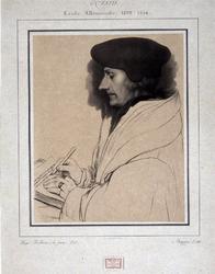 M-516 Portret van Desiderius Erasmus, humanist.