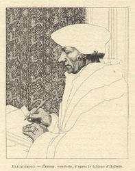 M-517 Portret van Desiderius Erasmus, humanist.