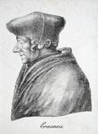 M-518 Portret van Desiderius Erasmus, humanist.