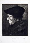 M-519 Portret van Desiderius Erasmus, humanist.