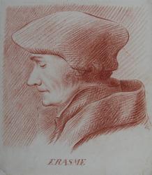 M-521 Portret van Desiderius Erasmus, humanist.