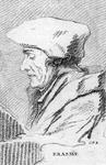M-522 Portret van Desiderius Erasmus, humanist.