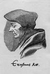 M-523 Portret van Desiderius Erasmus, humanist.