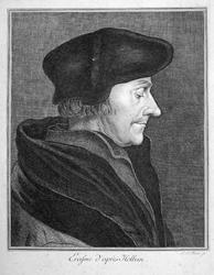 M-524 Portret van Desiderius Erasmus, humanist.