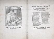 M-528 Portret van Desiderius Erasmus, humanist.