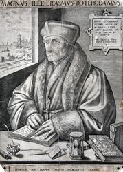 M-529 Portret van Desiderius Erasmus, humanist.