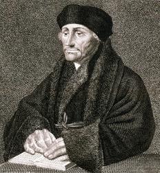 M-531 Portret van Desiderius Erasmus, humanist.