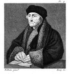 M-532 Portret van Desiderius Erasmus, humanist.