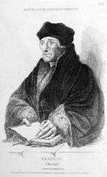 M-534 Portret van Desiderius Erasmus, humanist.