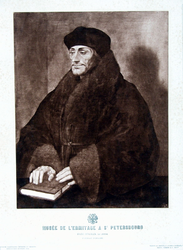 M-540 Portret van Desiderius Erasmus, humanist.