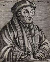 M-541 Portret van Desiderius Erasmus, humanist.
