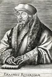 M-542 Portret van Desiderius Erasmus, humanist.