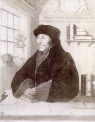 M-543 Portret van Desiderius Erasmus, humanist.