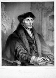 M-544 Portret van Desiderius Erasmus, humanist.