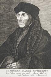 M-550 Portret van Desiderius Erasmus, humanist.