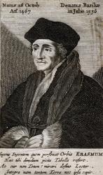 M-553 Portret van Desiderius Erasmus, humanist.
