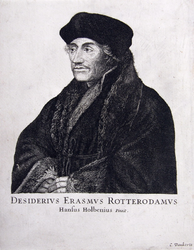 M-557 Portret van Desiderius Erasmus, humanist.