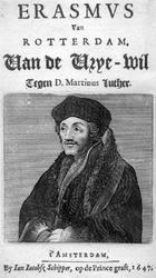 M-558 Portret van Desiderius Erasmus, humanist.