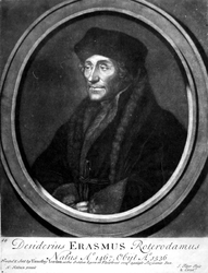 M-559 Portret van Desiderius Erasmus, humanist.