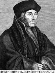 M-562 Portret van Desiderius Erasmus, humanist.