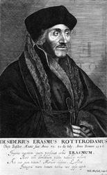 M-565 Portret van Desiderius Erasmus, humanist.