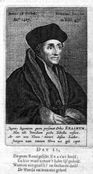 M-567 Portret van Desiderius Erasmus, humanist.