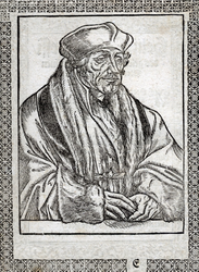 M-571 Portret van Desiderius Erasmus, humanist.