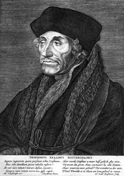 M-572 Portret van Desiderius Erasmus, humanist.
