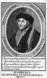 M-574 Portret van Desiderius Erasmus, humanist.