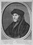M-575 Portret van Desiderius Erasmus, humanist.