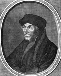 M-576-A Portret van Desiderius Erasmus, humanist.