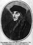 M-579 Portret van Desiderius Erasmus, humanist.