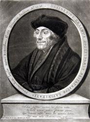 M-580 Portret van Desiderius Erasmus, humanist.