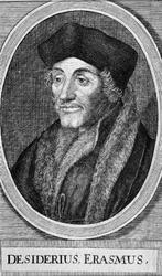 M-581 Portret van Desiderius Erasmus, humanist.