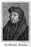 M-585 Portret van Desiderius Erasmus, humanist.