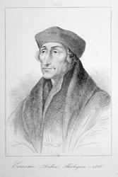 M-586 Portret van Desiderius Erasmus, humanist.