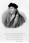 M-587 Portret van Desiderius Erasmus, humanist.