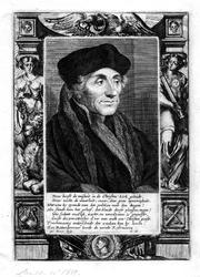 M-592 Portret van Desiderius Erasmus, humanist.