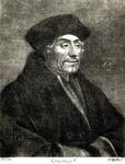 M-593 Portret van Desiderius Erasmus, humanist.