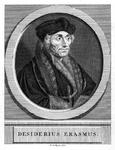 M-595 Portret van Desiderius Erasmus, humanist.