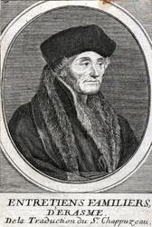 M-597 Portret van Desiderius Erasmus, humanist.