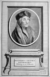 M-598 Portret van Desiderius Erasmus, humanist.