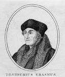 M-600 Portret van Desiderius Erasmus, humanist.