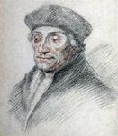 M-602 Portret van Desiderius Erasmus, humanist.
