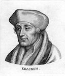 M-603 Portret van Desiderius Erasmus, humanist.