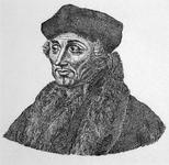 M-604 Portret van Desiderius Erasmus, humanist.