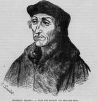 M-605 Portret van Desiderius Erasmus, humanist.