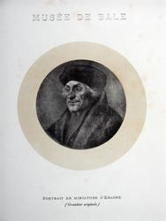 M-606 Portret van Desiderius Erasmus, humanist.