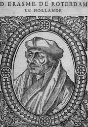 M-607 Portret van Desiderius Erasmus, humanist.